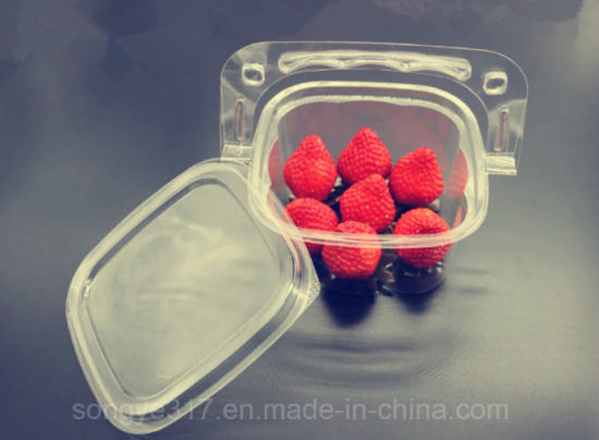 Disposable Creative Hand Basket Cake Fruit Salad Transparent Blister Pack pictures & photos