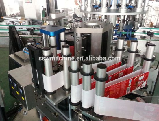 Hot Melt Glue Paper Tube Labeling Machine pictures & photos