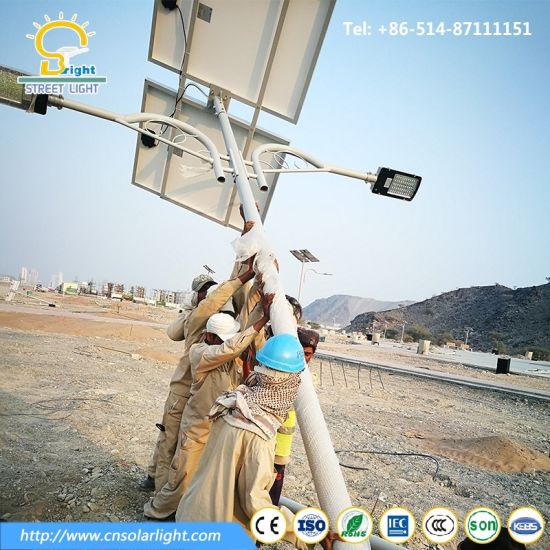 6m 60W Double Arms Street Solar Light with LED Lamp