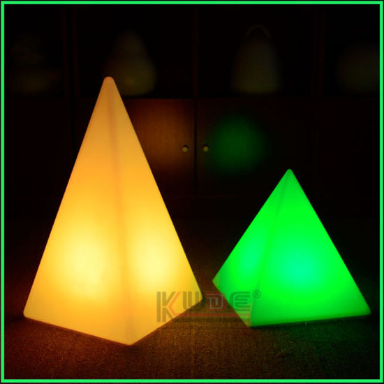 China glowing pyramid triangle table lamp colorful christmas glowing pyramid triangle table lamp colorful christmas decoration lamp aloadofball Image collections