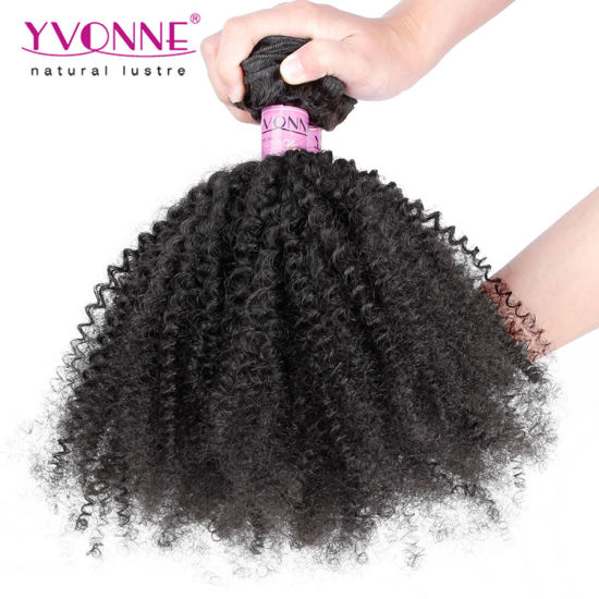 Brazilian Afro Kinky Curly Human Hair Extension pictures & photos