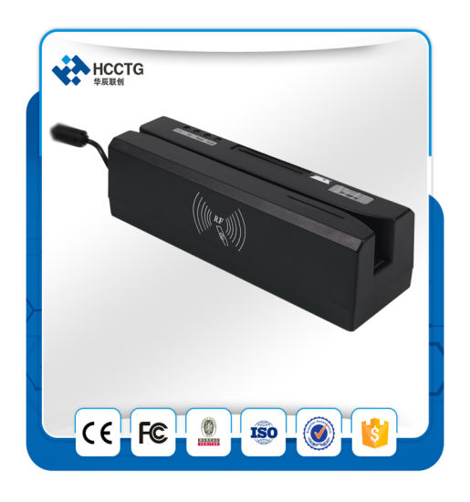 All in One Card Reader Magnetic Card NFC IC Chip Card Reader Writer (HCC80) pictures & photos
