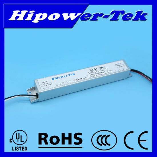 UL Listed 24W, 500mA, 48V Constant Current LED Driver with 0-10V Dimming pictures & photos