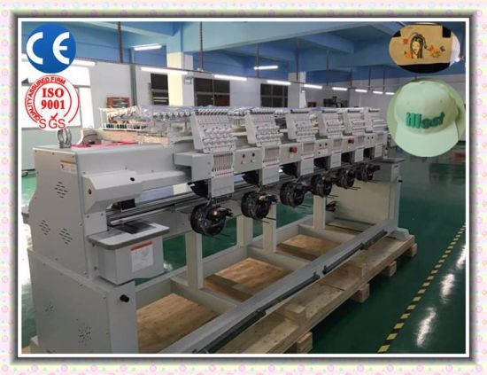 "Wonyo Computerized 6 Heads Cap Embroidery Machine, T-Shirt Embroidery Machine with 10"" Touch Screen Best Prices pictures & photos"