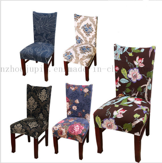 OEM Print Fashion Springy Cloth Embroidered Chair Cover