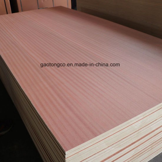 Poplar Core Sapelli Walnut Veneer Ply Wood/High Grade Commercial Plywood for Furniture