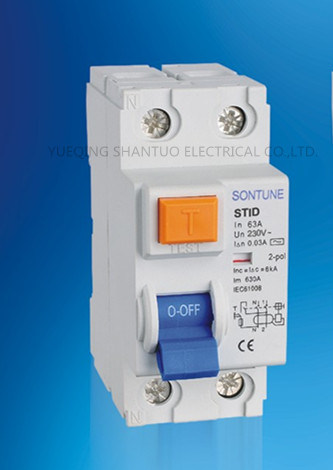 Sontune Stid-63A Series RCCB 2p 4p RCCB/Residual Current Circuit Breaker pictures & photos