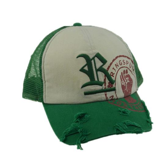 58096a49b74 Custom 6 Panels Embroidery Baseball Hats Cotton Snapback Trucker Hat