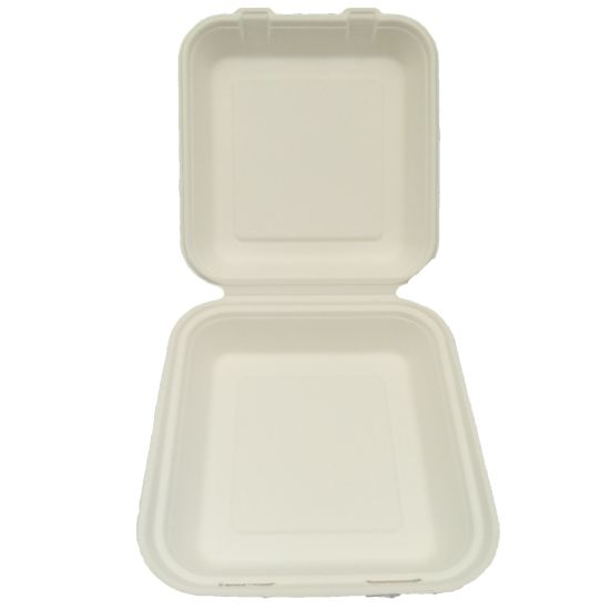 Disposable Biodegradable Square Bagasse Bento Box pictures & photos
