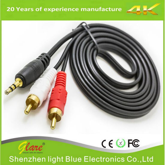 High Speed 3.5mm to RCA Audio Cable pictures & photos