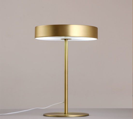 Wonderful Design Modern Metal Desk Table Lamp Light In Brass For Reading,  With Glass Cover At Bottom