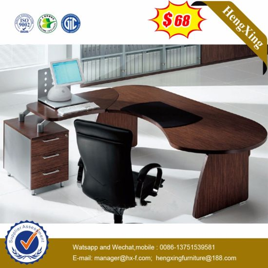 Factory Price PVC Edge Banding Cherry Color Office Table (HX-5N022) pictures & photos
