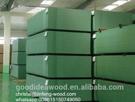 ISO9001: 2008 High Quality Green Core Water Proof Melamine MDF
