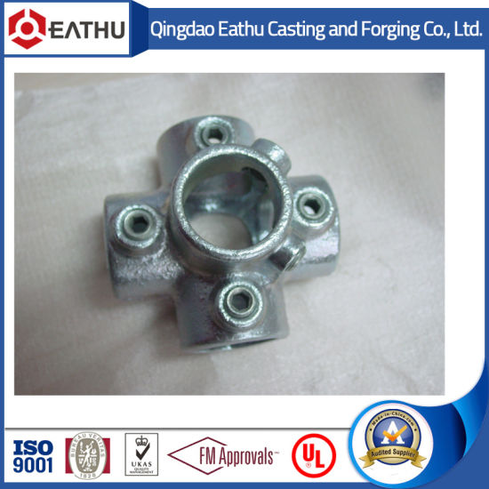Malleable Iron Pipe Clamps Four Way Cross Code 158