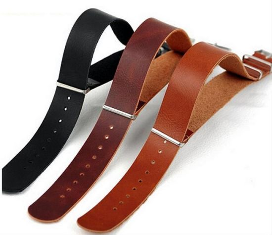 20bad8ed654 High End Nato Straps Genuine Cow Leather Watch Band Strap 18mm 20mm 22mm  and 24mm Zulu Nato Watch Band Strap