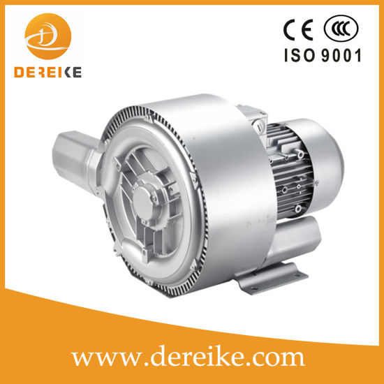 Dereike 2.2kw Side Channel Blower Ring Blower Air Blower Turbo Blower Centrifuge Blower for Sewage Treatment Plant