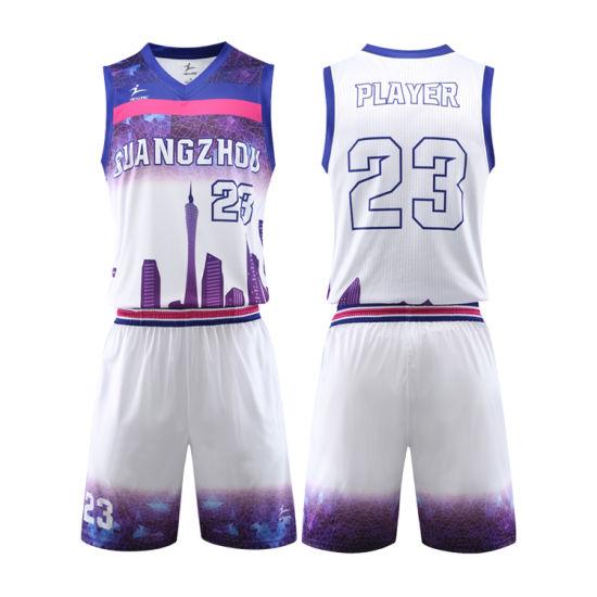 Custom Top Sale Sportswear Sublimation Printing Basketball Jersey Uniform Design