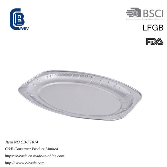 Disposable Aluminum Foil Oval Platter Plate Dish Tray