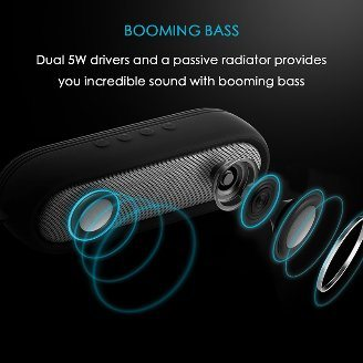 Hot Portable Dual Bass Mini Bluetooth Wireless Speaker pictures & photos