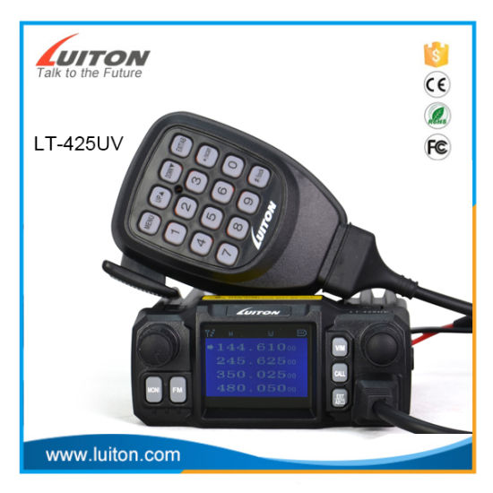 Quad Band Mobile Radio Lt-425UV Mini Color Screen Quad-Standby with External Mic for Taxi Transceiver Car Truck Ham Radio