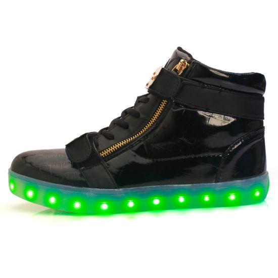 Factory Wholesale Mens Shoes 2017 Classic LED Shoes Men