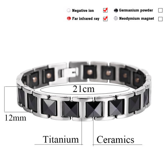Fashion Black Ceramic Bracelets Silver & Black Bangle pictures & photos