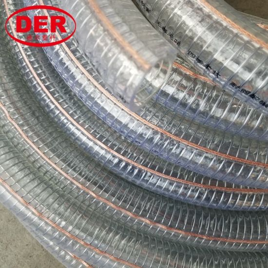 High Quality PVC Flexible Anti-Static Steel Wire Reinforced Hose pictures & photos