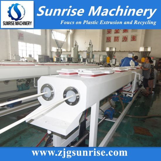 Double Cavity PVC Electric Conduit Water Pipe Extrusion Production Line