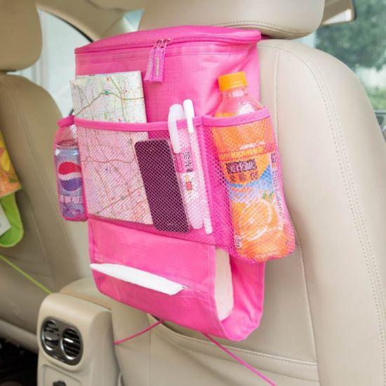 Manufacture Multi-Pocket Hanging Kids Children Portable Car Back Seat Backseat Organizer Bag