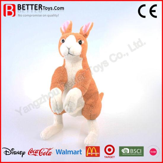 China Realistic Stuffed Animal Plush Kangaroo Soft Toy For Kids