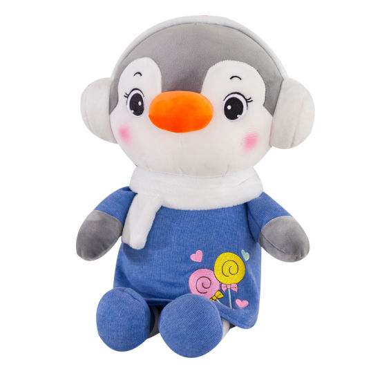 Plush Toy Penguin with Earmuff and Scarf