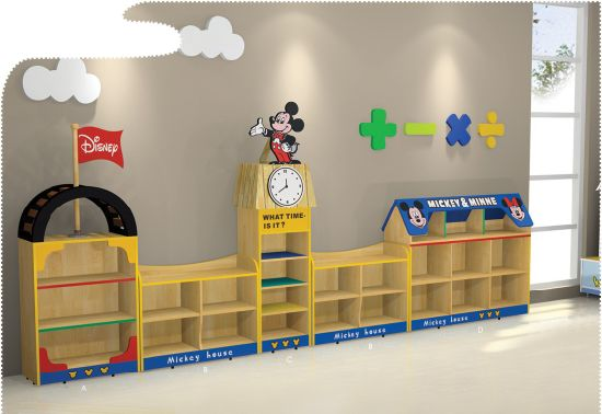 Kids Cabinet Daycare Center Furniture Kids Toys Storage Cabinet -Sf-07W for Kindergarten pictures & photos