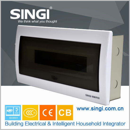 Home Use Indoor Consumer Unit Surface Mounted 9p Plastic for Circuit Breaker
