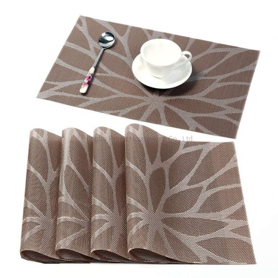 Wholesale Dining Room Placemats for Table Heat Insulation Stain-Resistant Woven Vinyl Kitchen Placemats Hot Items