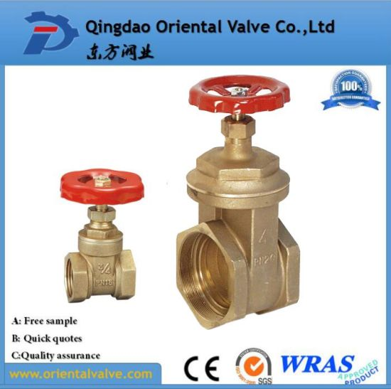 High Quality, Brass Gate Valve with Full Brass Material, Pn16 pictures & photos