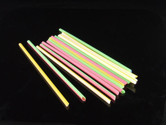 Plastic Drinking Straight Straws with Top Sharp