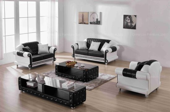 Phenomenal Luxurious Black And White Tufted Style New Living Room Sofa Set Machost Co Dining Chair Design Ideas Machostcouk