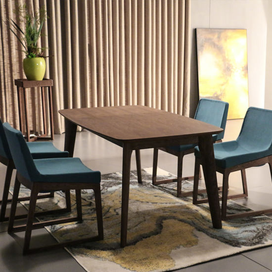 Nordic Design Solid Ash Wooden Dining Table and Chairs for ...