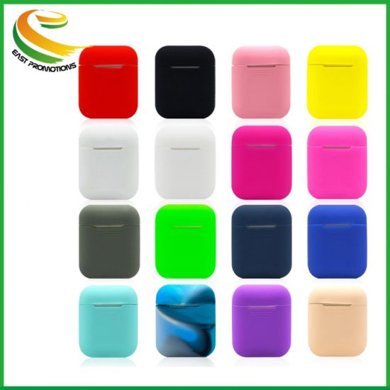 Soft Silicone Case for Apple Earpod Wireless Headphones Accessories Silicon Covers Skin for Airpod Charging Case