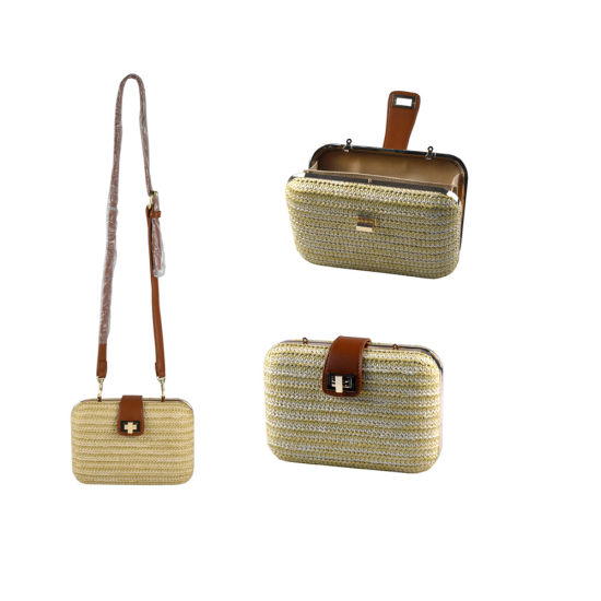 Trendy Rigid Ladies Straw Clutch Bag for Travel pictures & photos