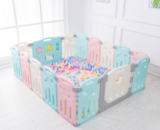 14+2 Plastic Safety Fence for Children Baby Playpen
