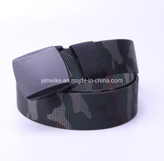 Camouflage Men Casual Outdoor Military Nylon Waistband Canvas Web Belt