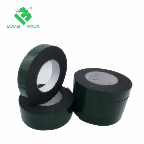 High Quality Adhesive Double Sided PE Foam Tape Balck pictures & photos