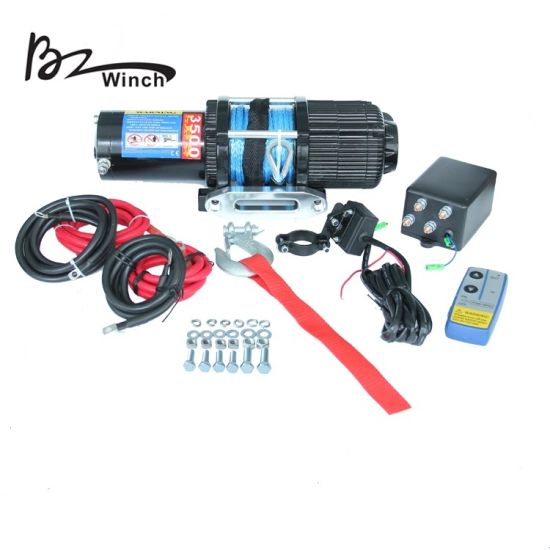 ATV Electric Winch with 3500lb Pulling Capacity