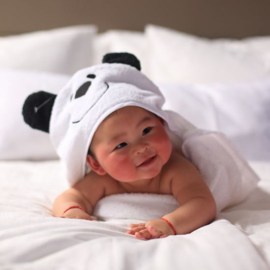 Personalised Baby Bath Hooded  towel 100/% Cotton White Baby Towel Baby Gift