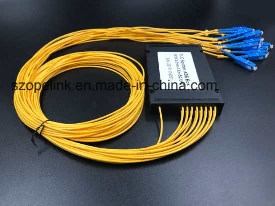 Fiber Optic Gpon Telecommunication 1X16 Plastic Box PLC Splitter pictures & photos