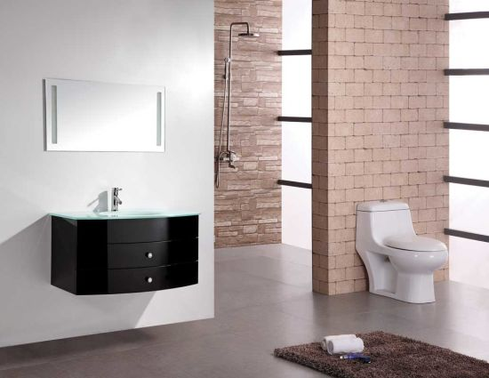 China Cheap Model Wholesale Mdf Bathroom Vanity With