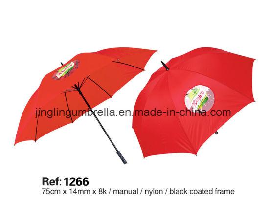 Double Ribs Golf Advertising Umbrella