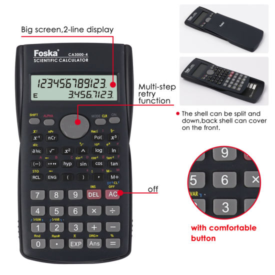 10+2 Digit 2-Line Display 240 Function Scientific Calculator pictures & photos