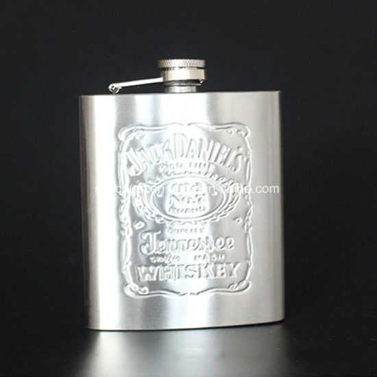 Stainless Steel Hip-Flask Portable Russian Vodga Whisky Wine Bottle pictures & photos